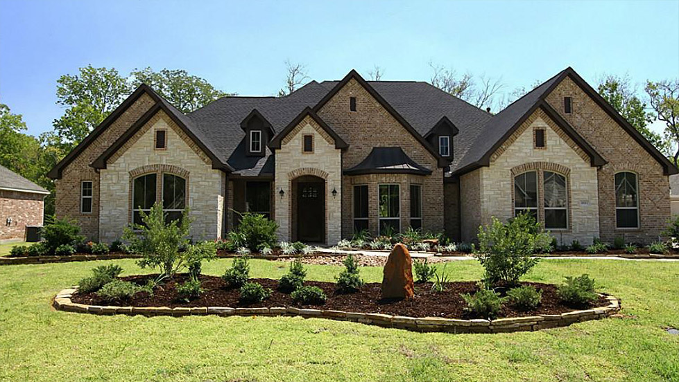 Exterior paint ideas for stucco homes home painting ideas for Stone and brick home designs