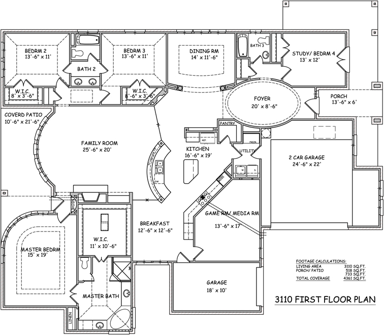 Floor plans new camden homes for 1 story house floor plan